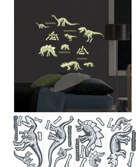 Glow in the Dark Dinosaurs Peel and Stick - Wall Sticker Outlet