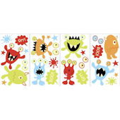 Glow in the Dark Monsters Peel and Stick