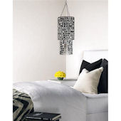 Wall Pops Icicles Silver Chandelier