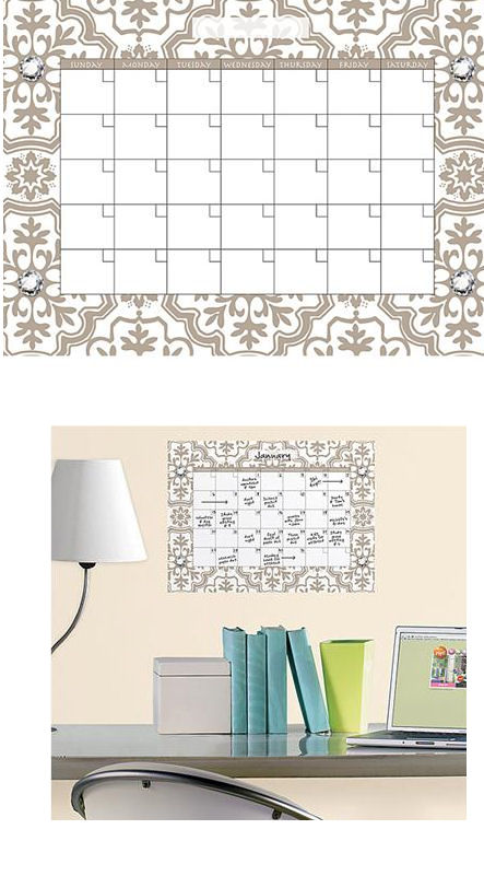 Wall Pops Kolkata Jeweled Monthly Calender - Wall Sticker Outlet