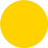 Wall Pops Lello Yellow Set of  5 Dots