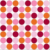 Wall Pops Lot Of Dots Pink Set of 5 Blox