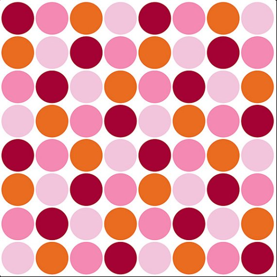 Wall Pops Lot Of Dots Pink Set of 5 Blox  - Wall Sticker Outlet