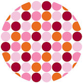 Wall Pops Lot of Dots Pink Set of  5 Dots