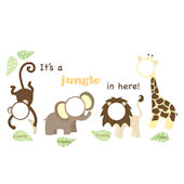 Its a Jungle in Here Wall Sticker Frames