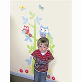 Owl  Growth Chart Tree Wall Stickers
