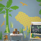 Wall Pops Zoo Wallogy Ozzie Lion Wall Sticker