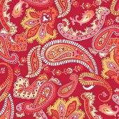 Wall Pops Paisley Please Red Set of 4 Blox