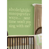 Pea Pod Alphabet Wall Sticker Set