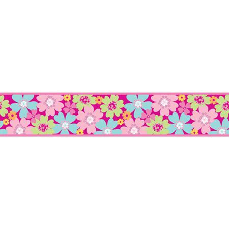 Pretty Flowers Funky Wall Border - Wall Sticker Outlet