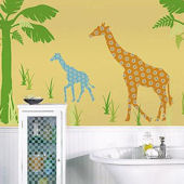 Wall Pops Zoo Wallogy Riley Giraffe Wall Sticker