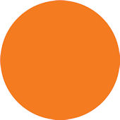 Wall Pops Totally Orange Set of  5 Dots