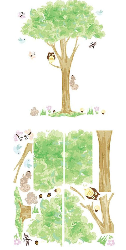 Treehouse Wall Art Sticker Kit - Wall Sticker Outlet