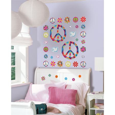 Wall Pops Tie Dye Peace Peel and Stick - Wall Sticker Outlet