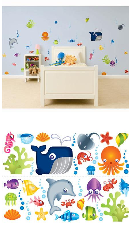 Under The Sea Stickaround Wall Stickers - Wall Sticker Outlet