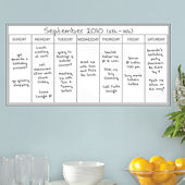 Whiteboard Weekly Calendar Wall Decal