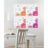 Wall Pops 4 Pc Zinnia Monthly Calender