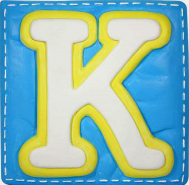 K Alphabet Letter Wallables Talking Alphabet Letter K - Wall Sticker Outlet