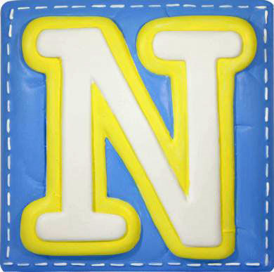 N Alphabet Letter Wallables Talking Alphabet Letter N - Wall Sticker Outlet