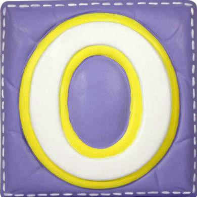 O Alphabet Letter Wallables Talking Alphabet Letter O - Wall Sticker Outlet