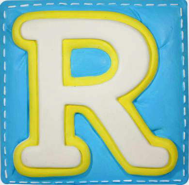 R Alphabet Name Wallables Talking Alphabet Letter R - Wall Sticker Outlet