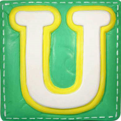 U Alphabet Letter Wallables Talking Alphabet Letter U - Wall Sticker Outlet