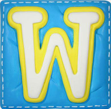W Alphabet Letter Wallables Talking Alphabet Letter W - Wall Sticker Outlet