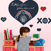 Wall Candy Arts Chalkboard Hearts