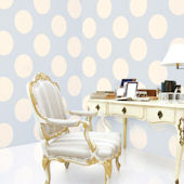 Polka Dot Blue Almond Peel & Stick Wallpaper