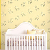 Bunny Up Buff Peel & Stick Wallpaper
