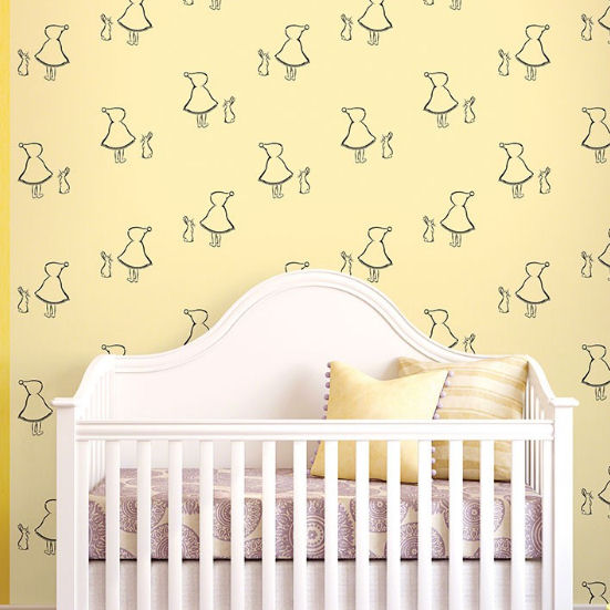 Bunny Up Buff Peel & Stick Wallpaper - Wall Sticker Outlet