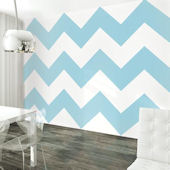 WallCandy Chevron Aqua Peel and Stick Wallpaper