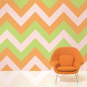 WallCandy Chevron Margarita Peel Stick Wallpaper