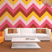 WallCandy Chevron Cosmo Peel and Stick Wallpaper