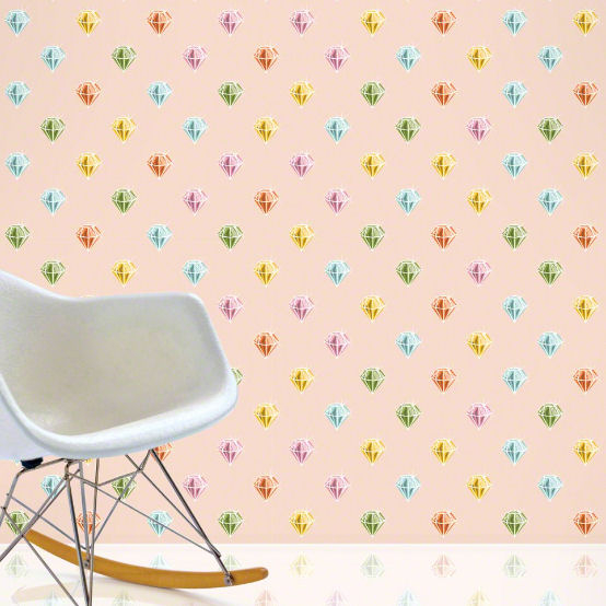 Diamonds Peel & Stick Wallpaper - Wall Sticker Outlet