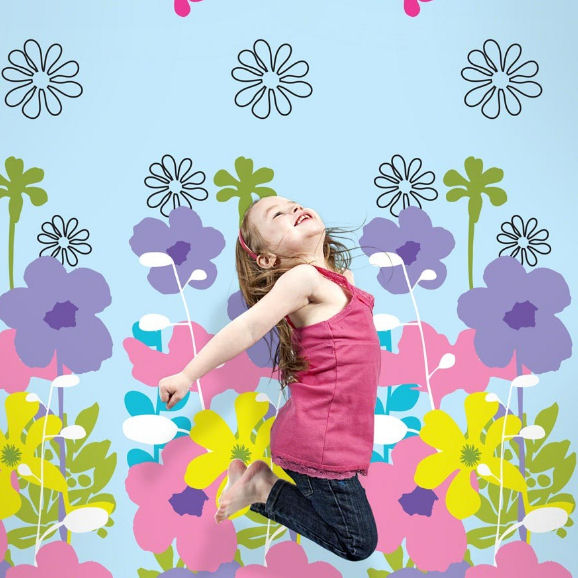 French Bull Shadow Flower Peel & Stick Wallpaper - Wall Sticker Outlet