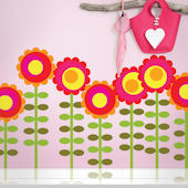 Wallcandy Happy Flowers Wall Decals