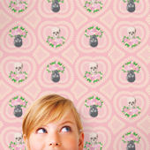 WallCandy Hearts Skulls Pink Peel Stick Wallpaper