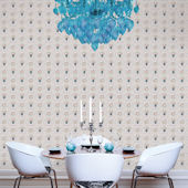 WallCandy Hearts Skulls Gray Peel Stick Wallpaper