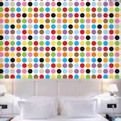 Large Multi Dots Peel and Stick Wallpaper