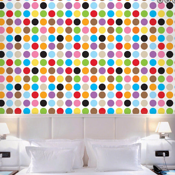 Large Multi Dots Peel and Stick Wallpaper - Wall Sticker Outlet