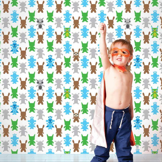 Monster Gray Peel & Stick Wallpaper - Wall Sticker Outlet