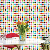 French Bull Mini Multi Dot Peel & Stick Wallpaper