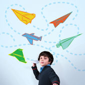 Wall Candy Paper Airplanes Wall Decals