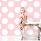 Pink and White Polka Dot Peel & Stick Wallpaper