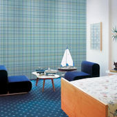 WallCandy Plaid Blue Peel and Stick Wallpaper