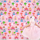 French Bull Princess Peel & Stick Wallpaper