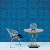 WallCandy Quatrefoil Blue Peel Stick Wallpaper