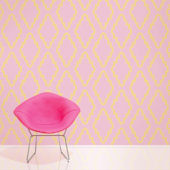WallCandy Quatrefoil Pink Peel and Stick Wallpaper