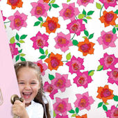 French Bull Rose Peel & Stick Wallpaper